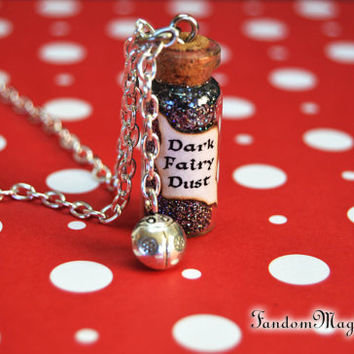 Dark Fairy Dust with a Lady Bug Charm, Evil in Once Upon a Time, Snow White, Trolls, Enchanted Forest, ABC Television, by Fandom Magic