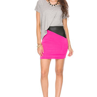 Foreign Exchange :: WOMEN :: DRESSES :: NIGHT :: GREY & FUSCHIA UNTUCK THE FUTURE DRESS
