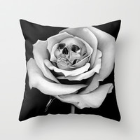 Beauty & Death Throw Pillow by BlackNYX