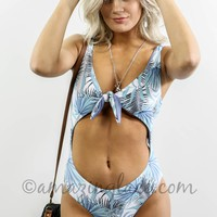 Under The Palms Knotted Front Monokini