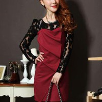 Lace Stitching Sexy Dress YG003