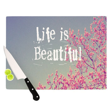 "Rachel Burbee ""Life is Beautiful"" Cutting Board"
