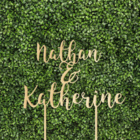 Custom Couple Name 6 or 8 Inches Wedding Party Event Baby Shower Cake Topper