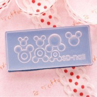 3D Mold For Clay Art and Acrylic Art - Mickey Mouse