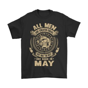 ICIKON7 All Men Are Created Equal Are Born In May Shirts