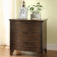 Lingel Modern 2-Drawer Nightstand in Cognac