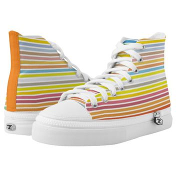 Rainbow multicolor printed shoes