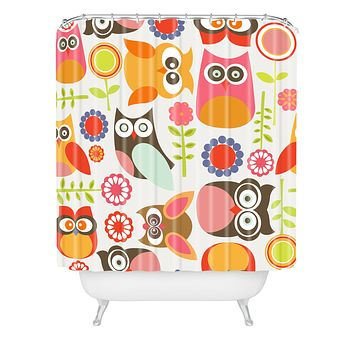 Valentina Ramos Cute Little Owls Shower Curtain