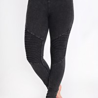 Save The Day Moto Leggings (Black)