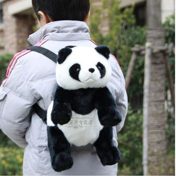 Cute Panda Plush backpacks Stuffed animals toys kids school kindergarden bag Great Companion birthday gift