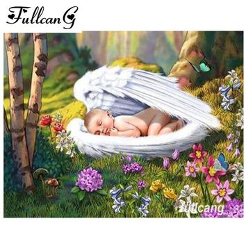 5D Diamond Painting Protected by Angels Wings Kit