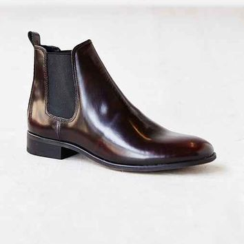Shoe The Bear Burnished Chelsea Boot- Maroon