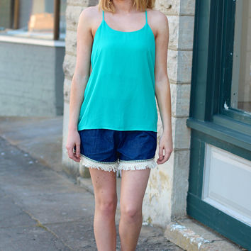 Solid Y Back Tank {Jade}