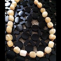 Honey Orange Calcite Beaded Necklace
