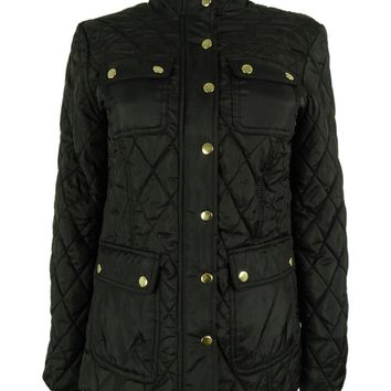 Charter Club Women's Quilted Barn Jacket