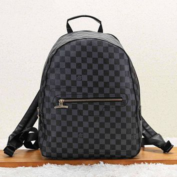8ed586f3072e Louis Vuitton Fashion New Monogram Check Women Men Travel Backpack Bag