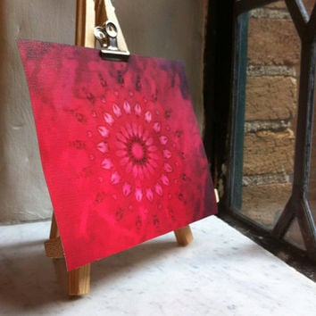 Free Shipping #Mandala #Canvas #Abstract #Wall #Art #Floral #Tulip #Home #Decor #MiniCanvas #Unstretched #Boho #Hippie