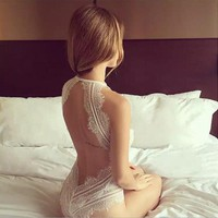 Deep V Fashion Lace Embroidery Blouse Pajamas underwear