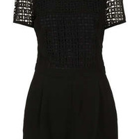 Cutwork T Shirt Playsuit - Rompers  - Clothing