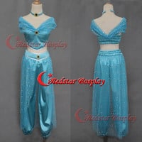 Princess Jasmine cosplay costume dress from Aladdin and the King of Thieves Cosplay B