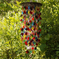 Stained Glass - Colored Glass - Unique Wind Chimes - Suncatcher - One Of A Kind - Kaleidoscope - Coriandoli aka Confetti