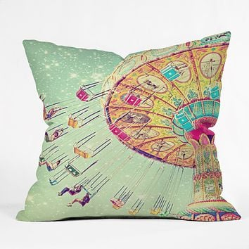 Shannon Clark Swinging Through Stars Throw Pillow