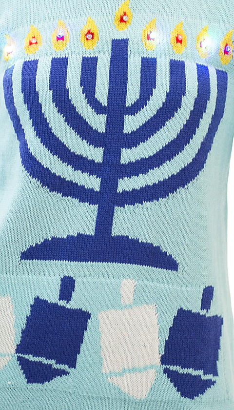 Light Up Ugly Hanukkah Sweater From Love On A Hanger Things I