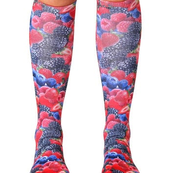 Berries Knee High Socks