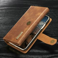 DG.MING Leather Wallet Case for iphone 6 6s 7 8 Plus Business PU Card Holder Case 360 Full Protective Case Cover for iphone X 10