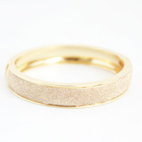 Gold Glitter Hinged Bangle - Bracelets