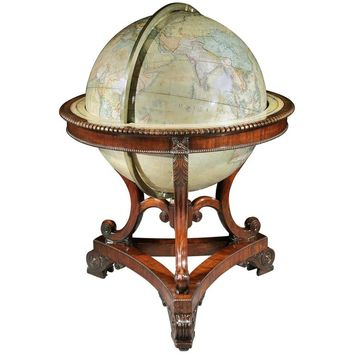 Victorian Terrestrial 'Colossus' Globe by Thomas Malby, 4471721