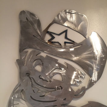 Dallas cowboys Rowdy, Rowdy metal art, dallas mascot