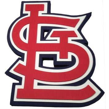 St Louis Cardinals - Logo 3D Foam Sign With Wall Strap