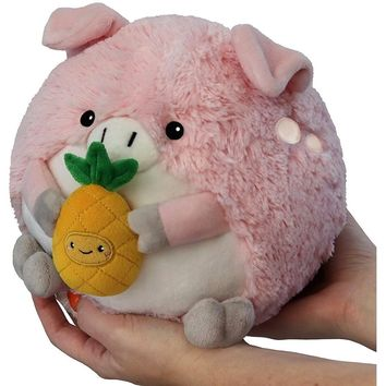 """Squishable Mini Pig Holding a Pineapple 7"""""""