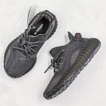 adidas Yeezy Boost 350 V3 Black Reflective Sneakers - Best Deal Online