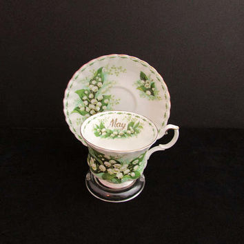 Vintage May Flower of the Month Tea Cup - Royal Albert Montrose