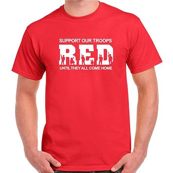 Red Friday Remember Everyone Deployed Until They All Come Home Military Shirt