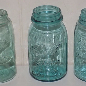 Ball Atlas Strong Shoulder Mason Jars Quart Blue