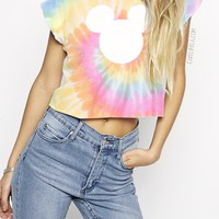 Tie Dye Mickey T shirt or Cropped T-Shirt By Cake Life®