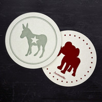 Political Party Coaster Set by Ancesserie