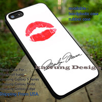 Marilyn Monroe Signature iPhone 6s 6 6s+ 5c 5s Cases Samsung Galaxy s5 s6 Edge+ NOTE 5 4 3 #music #mlyn dt