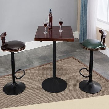 15%Bar table bar chair solid wood high stools long tables and chairs combination simple home bar American round table high table