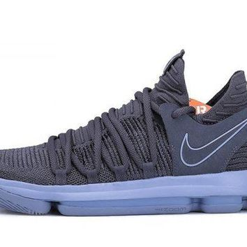 Nike KD 10 Dark Grey/Reflective Silver For Sale