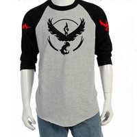 2016 Pokemon Go Team Valor Team Wen T-Shirt Fashion Casual Mystic Team Instinct Pokeball nerd Black T-shirt Hot