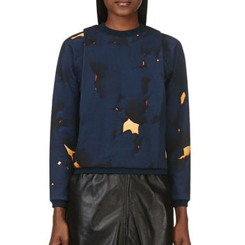 3.1 Phillip Lim Navy And Orange Folded Off The Wall Sweatshirt