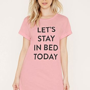 Stay In Bed Graphic Nightdress