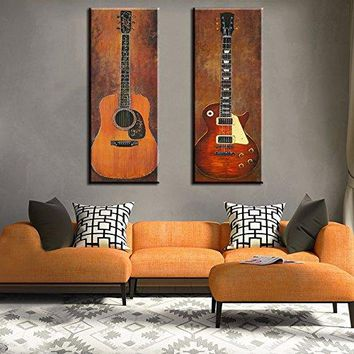 Guitar Photo Wall Decoration Music Art Image Printed on Canvas
