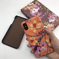 Floral GUCCI Fashion Cover Case for iPhone