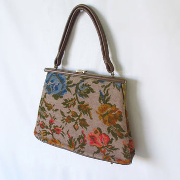 Vintage Tapestry Handbag by Dova Floral Carpet by ItchforKitsch