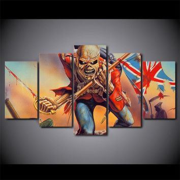 Iron Maiden Rock Band The Trooper rock band skull wall art print picture